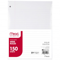 MEA15103 - Notebook Paper Wide Ruled 150Ct in Loose Leaf Paper