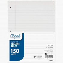 MEA15111 - Notebook Paper College Ruled 150Ct in Loose Leaf Paper