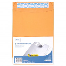 MEA76080 - Mead Press It Seal It 5Ct 9 X 12 Envelopes in Envelopes