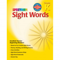 MGH0769666809 - Spectrum Sight Words Gr K in Sight Words