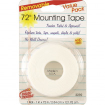 MIL3239 - Remarkably Removable Magic Mounting Tape Tabs And Chart Mounts 1X72 in Adhesives