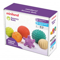 Sensory Balls, Set of 6 - MLE97314 | Miniland Educational Corporation | Sensory Development