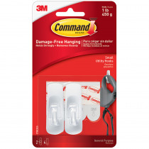MMM17002 - Command Adhesive Reusable Small Hooks Pack Of 2 in Adhesives