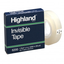 MMM6200121296 - Highland Invisible Tape 1/2X1296in in Tape & Tape Dispensers
