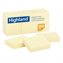 MMM6539YW - Notes Highland Yellow 1 1/2 X 2 in Post It & Self-stick Notes