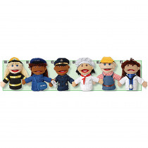 MTC319 - Multi Ethnic Career Puppet 6 Set Of All Career Puppets in Puppets & Puppet Theaters