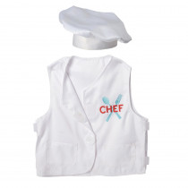 Chef Toddler Dress-Up, Vest & Hat - MTC610 | Marvel Education Company | Role Play