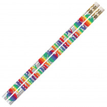 MUS1356D - Birthday Blitz 12Pk Motivational Fun Pencils in Pencils & Accessories