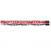 MUS1549D - B U G Bringing Up Grades 12Pk Motivational Fun Pencils in Pencils & Accessories