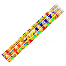 MUS2499D - 12 Pack Emojis Etc Pencils in Pencils & Accessories