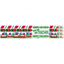 MUS2519D - 12Pk Happy Holidays From Your Teacher Pencils in Pencils & Accessories