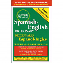 MW-1651 - Merriam Websters Spanish English Dictionary Hardcover in Spanish Dictionary