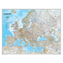 NGMRE00620147 - Europe Wall Map 30 X 24 in Maps & Map Skills