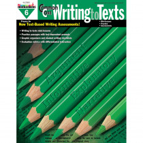 NL-2083 - Common Core Writing To Text Gr 6 Book in Writing Skills