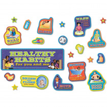 NST3036 - Healthy Habits Bulletin Board Set - 38 Pieces in Science