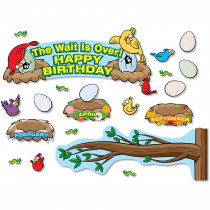 NST3064 - Birthday Birds Bulletin Board Set in Classroom Theme