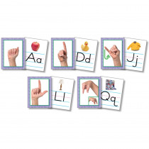 NST9082 - Resource Bundles American Sign Language Alphabet Cards in Language Skills