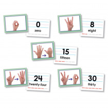 NST9093 - American Sign Language Cards Number 0-30 in Sign Language