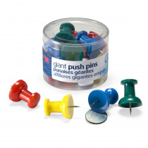 OIC92902 - Officemate Giant Push Pins 12/Tub in Push Pins