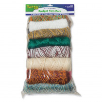 Budget Yarn Pack, Assorted Colors, 16 oz., 16 Skeins - PAC0000650 | Dixon Ticonderoga Co - Pacon | Yarn