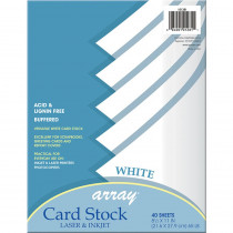 PAC101281 - White Card Stock 40 Sheet in Card Stock