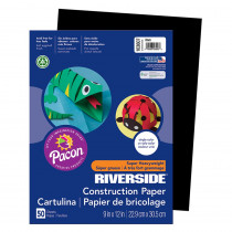 PAC103607 - Riverside 9X12 Black 50 Sht Construction Paper in Construction Paper
