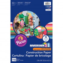 PAC103646 - 3D Construction Paper Ast Colors 12 X 18 in Construction Paper