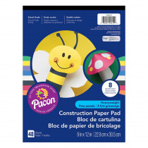 PAC104612 - Construction Pad Hw 9X12 Asst 48Ct in Construction Paper