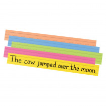PAC1733 - Peacock Super Brt Sentence Strips 3 X 24 Assorted Colors 100/Pk in Sentence Strips