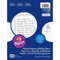 PAC2422 - Writing Paper 500 Sht 8X10.5 1/2 In Rule Short Rule in Handwriting Paper