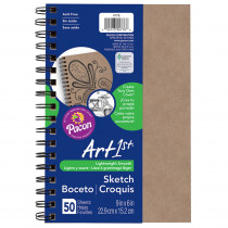 PAC4776 - Sketch Diary Chip Cover 9X6 Natural in Sketch Pads