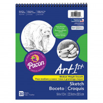PAC4850 - Art1st Sketch Book 9X12 30 Sht Wht in Sketch Pads