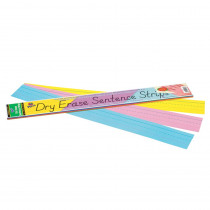 PAC5186 - Dry Erase Sentence Strips Assorted 3 X 24 in Dry Erase Sheets