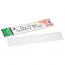 PAC5187 - Dry Erase Sentence Strips White 3 X 12 in Dry Erase Sheets