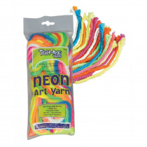 PAC52610 - Art Yarn 50Ft 9 Fluorescent Colors Plus White in Yarn