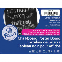 PAC53501 - Chalkboard Poster Board 25 Sheets in Poster Board