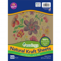 PAC5713 - Ecology Natural Kraft Sheets 9X 12 500 Sheets in Construction Paper