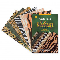 PAC57770 - Fadeless Embossed Safari 24 Sht 12 X 18 Assorted Prints in Construction Paper