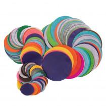 Bleeding Tissue Circles Assortment, 25 Assorted Colors, Assorted Sizes, 2,250 Circles - PAC58530 | Dixon Ticonderoga Co - Pacon | Tissue Paper