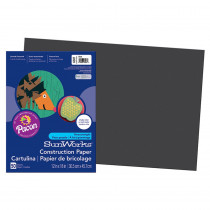 PAC6307 - Construction Paper Black 12 X 18 in Construction Paper