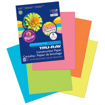 PAC6596 - Tru Ray Hot Asst 9X12 Fade Resistant Construction Paper in Construction Paper