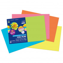 PAC6597 - Tru Ray Hot Asst 12X18 Fade Resistant Construction Paper in Construction Paper