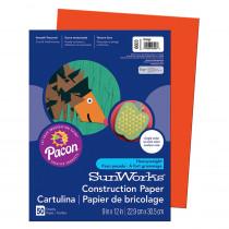 PAC6603 - Construction Paper Orange 9X12 in Construction Paper