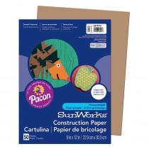 PAC6903 - Construction Paper Light Brown 9X12 in Construction Paper