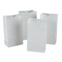 PAC72005 - White Rainbow Bags 50Pk in Craft Bags