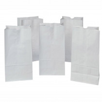 PAC72120 - Rainbow Bags 50 White 8X14 in Craft Bags