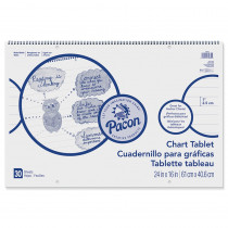 PAC74630 - Chart Tablet 1 Inch Rule 24X16 in Chart Tablets