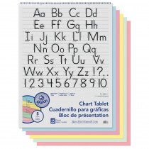 PAC74733 - 1-1/2 Ruled Manuscript Cover 25 Ct 24 In X 32 In in Chart Tablets