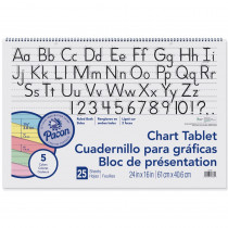 PAC74734 - 1-1/2 Ruled Manuscript Cover 25 Ct 24 In X 16 In in Chart Tablets