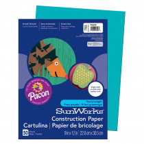 PAC7703 - Construction Paper Turquoise 9X12 in Construction Paper